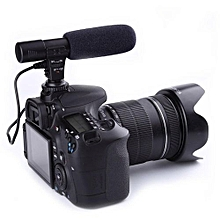 3.5mm Direction External Microphone For  Nikon DSLR Camera DV Camcorder