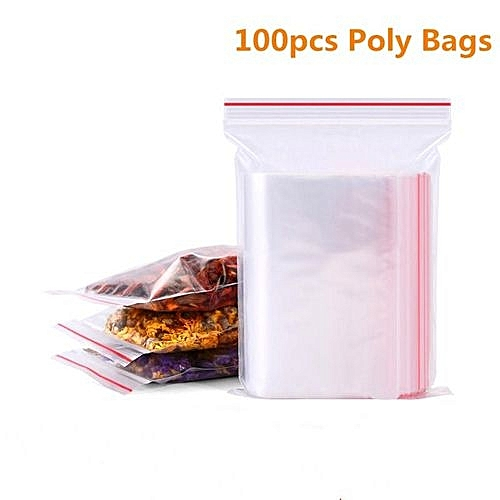 6c6febd07a0 Generic 100pcs Resealable Plastic Seal Ziplock Bags Self Adhesive Clear  Sealable Poly Polyethylene Food Bag Packing   Best Price   Jumia Kenya