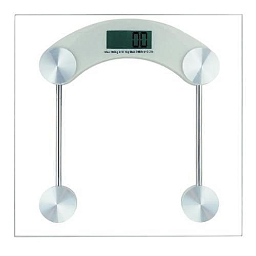 Tempered Glass Platform 180KG Digital LCD Electronic Bathroom Scale Glass  Weighing Scale   Measures In Stones