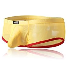 Sexy Transparent Net Yarn Boxer Briefs for Men