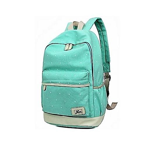 1ba7a4e99813 Generic Green unisex leisure school backpack 3 pcs in 1 bag set   Best Price