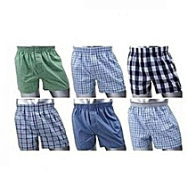 Boxer Shorts - 6 Pieces-Pure Cotton(Colour may vary)