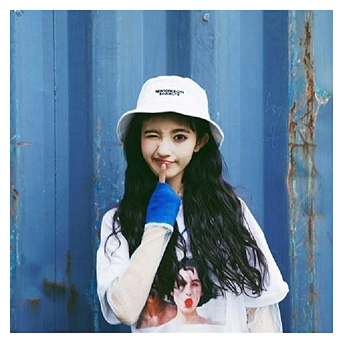 1Double row small letter of alphabet white2018 new style of fisherman hat  female hat the female af74c3d7d2c