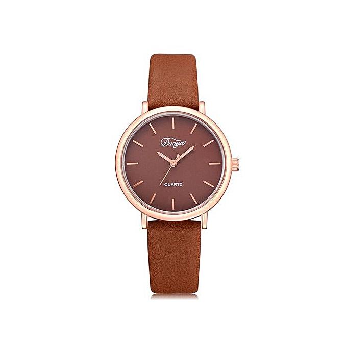f5631de42 Xingbiaocao Fashion Women Men Couple Watch Rounded Colorful Analog Pointer  Quartz Watch -Brown