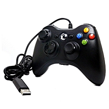 OR Gamepad For Microsoft Xbox 360 USB Wired Controller Ergonomic Joypad-black
