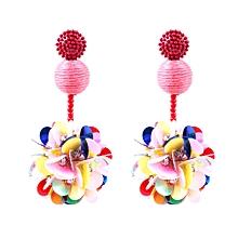 shioakp New arrive  Steel Gold Women Girl Earrings Fashion Jewelry 1Set Stud Earring