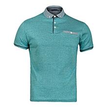 100% Premium Cotton Aqua Polo Shirt