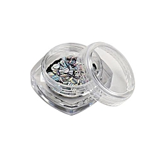 bluerdream-1 Box Ultrathin Nail Art Sequins UV Gel Colorful Shiny Round Decoration DIY Tips-Silver