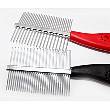 Dogs Grooming stainless steel antistatic Pet Hair Grooming Comb Slicker Brush-Random