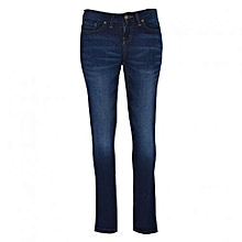 Dark Blue Womens Skinny Pants