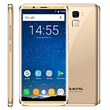 OUKITEL K5000, 4GB+64GB, 21.0MP Front Camera, 5000mAh Battery, Fingerprint Identification, 5.7 inch 2.5D Android 7.0 MTK6750T Octa Core up to 1.5GHz, Network: 4G, Dual SIM, OTG(Gold)