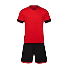 Customized World Cup Football Soccer Team Training Children And Men Sports Jersey-Red