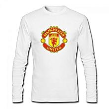 Manchester United Men's Cotton Long Sleeve T-shirt White