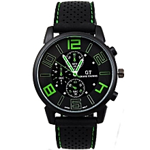 High-grade  Casual Quartz Analog Silicone Stainless Steel Dial Sports WristWatch