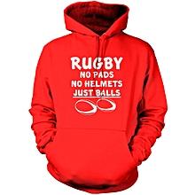 Red Rugby  Hoodie