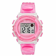 Famous Sport LED Digital Watches Men Fashion Top Brand Wrist Watch Male Electronic Clock Digital-watch(Pink)