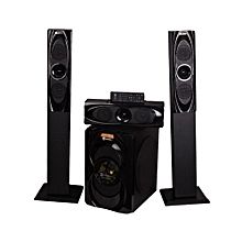 15000W P.M.P.O SHT-1263BT 3.1 CH SUBWOOFER WITH MEDIUM RANGE TALL BOY SPEAKERS WITH BLUETOOTH.