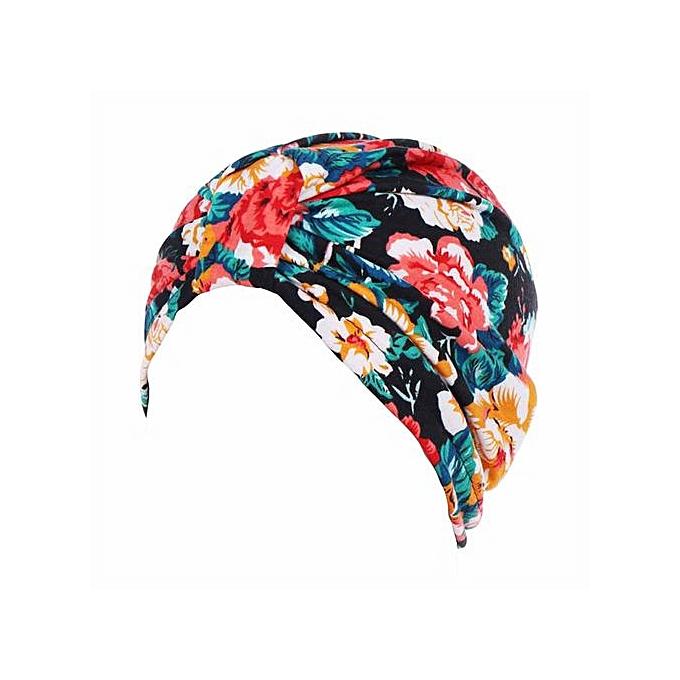 2411d9d90ca Women Muslim Stretch Turban Hat Chemo Cap Hair Loss Head Scarf Wrap Cap