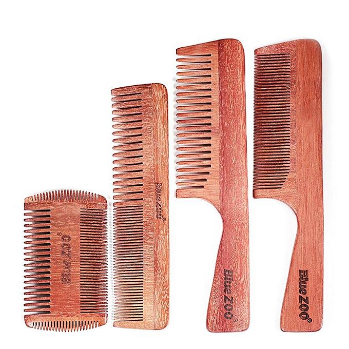 Practical Wood Hair Beard Comb Red Sandalwood Massage Beard Brush Shaving  Comb Wide tooth comb