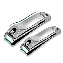 Y.F.M® Stainless Steel Nail Clipper Fingernail Cutter Anti Splash Manicure Tool with Nail File