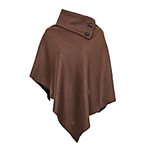 Ladies Coffee Brown All Weather Fleece Poncho