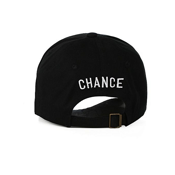 8a6f2be83c4 ... Chance 3 Embroidery Rapper Inspired Baseball Hat For Men Women -Black -  -0
