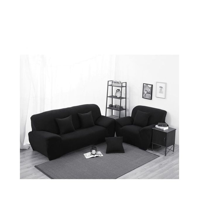 Magideal Spandex Stretch Lounge Sofa Couch Seat Cover Slipcover Case Home Decor Black Buy