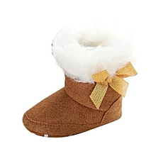 bluerdream-Baby Toddler Infant Girl Snow Boots Soft Sole Prewalker Crib Shoes BW/11-Brown