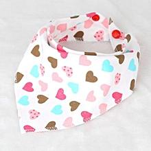 Infant Soft Cotton Saliva Towel Triangle Scarf Dribble Bibs Newborn Burp Cloth(Love Hearts)