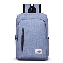 Backpack Laptop Bag Pack Travel Vintage Teenage College Double Shoulder School Pure-blue