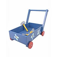 Walker Trolley - Blue with Red Wheels