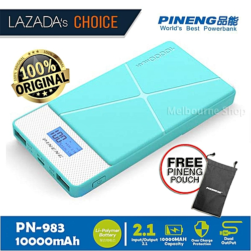 2018 Pineng PN 983 10000mAH Lithium Polymer PN-983 PN983 PN 983 with free Pineng Pouch bag BGmall
