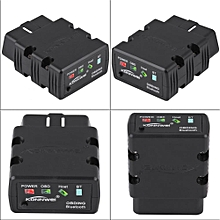 Car Diagnostic Scanner KW902 OBDII Car Scanner Diagnostic Tool Fault Detection Bluetooth 3.0 for Android Black WWD