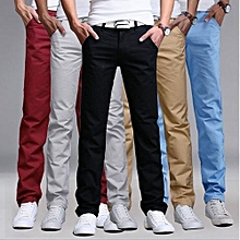 5 Pack Turkey Soft  Mens Khaki Pants - Maroon, Off White, Black, Brown, Sky Blue - Khaki Pants - Dark Blue -slim fit