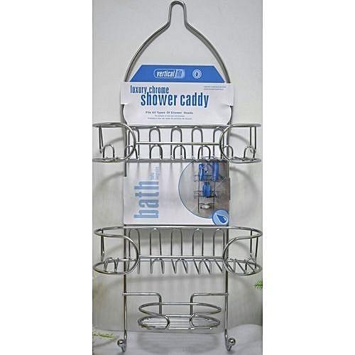 Smart Stainless Steel Bathroom Organizer Shower Caddy   Silver