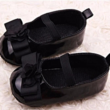 b7b78fa947e9f Infant Kids Girls Flowers Bow Soft Sole Baby Shoes Toddler Shoes BK 12-  Black
