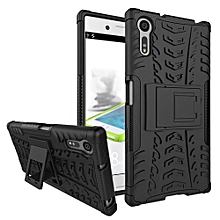 "For Xperia XZ Case, Hard PC+Soft TPU Shockproof Tough Dual Layer Cover Shell For 5.2"" Sony F8331/F8332 Black"
