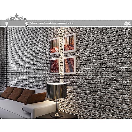Generic 3D Brick Wall Sticker Self-Adhesive Foam Wallpaper Panels Room Decal