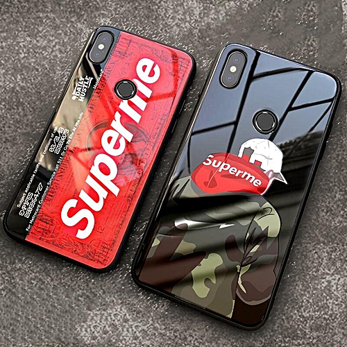 sports shoes cef06 c3bde For Redmi Note 5 Glass Case Tempered Glass Cover SUP Supreme Design  Shockproof Casing Back View Case For Xiaomi Redmi Note 5 Housing (Redmi  Note 5-1)