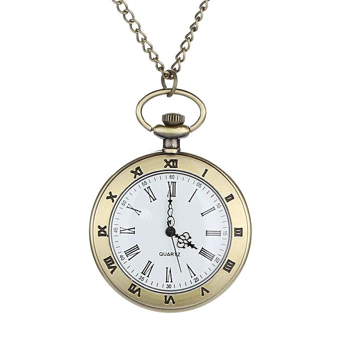 51b3138b967 Personalized Pattern Steampunk Vintage Quartz Roman Numerals Pocket Watch  ...
