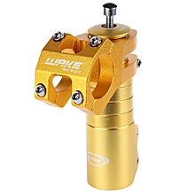 Bicycle Bike MTB 31.8MM Aluminum Alloy High-strength CNC Machined H+lebar Stem - Golden