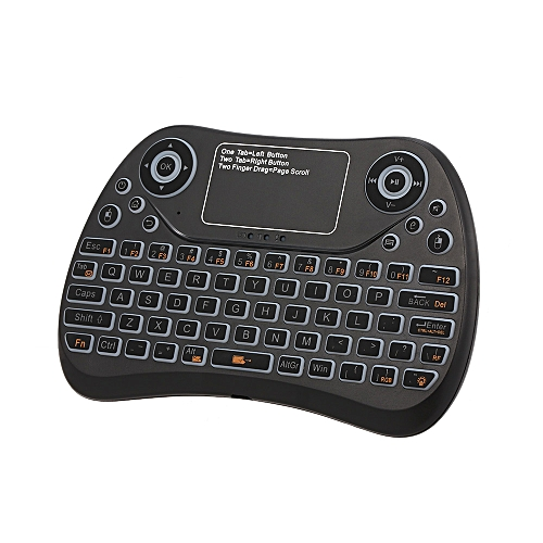 d528d553c9b Generic 2.4GHz Mini Wireless Keyboard Touch Pad Mouse Combo RGB QWERTY  Backlit Keyboard with Rechargeable Battery for Android TV Box Projector PC  Laptop ...