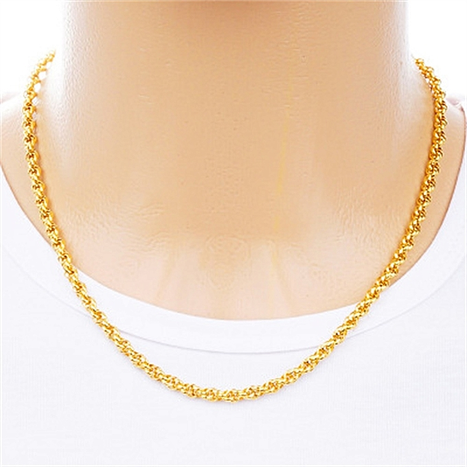0bc7bff89 Fashion Man Fashion Twisted Gold Necklace Lovers O-Chain @ Best ...