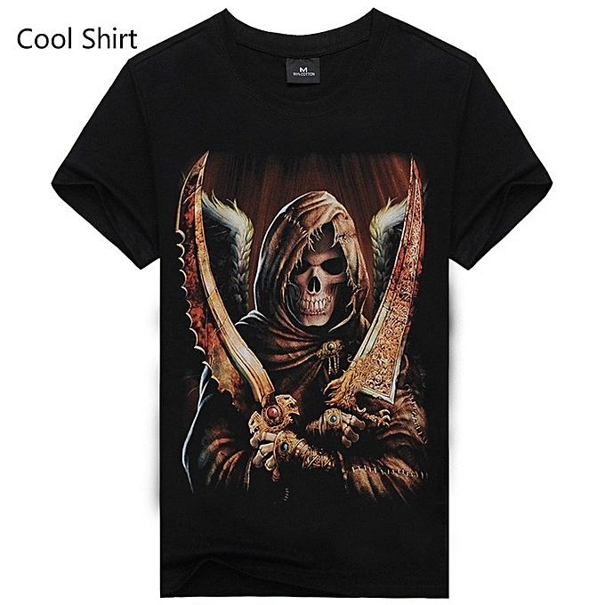 df14d566 Generic Round Neck Men T Shirt Printing Skull Graphic t Shirts ...