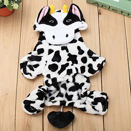 Xl Baby Cute Pet Dog Cat Puppy Jumpsuit Clothes Costume Christmas Milk Cow Coat