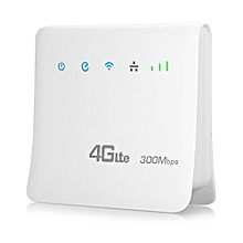 Kinle 4G LTE CPE Mobile WiFi Router for SIM Card 300Mbps Support 3G Marvell 1802 + MTK7628-WHITE