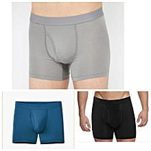 Cotton Casual Fitting Boxers - Pack of 3( grey,blue,black)