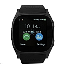 T8 Smart Watch Support SIM Card / Bluetooth Portable Multifunction Wristwatch - Black