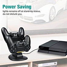 LEBAIQI Dual USB Charging Charger Docking Station Stand For Playstation 4 PS-4 Controller With 4 Micro USB Charging Dongles And Micro USB Charging Cable