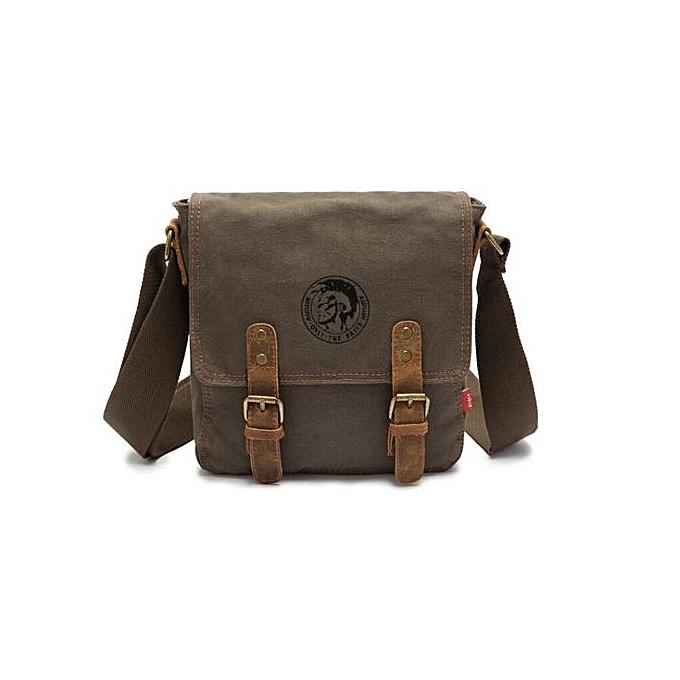ab61c6c5bf Vintage Men CanvasBag Fashion Briefcase Men Cross Body Shoulder bag